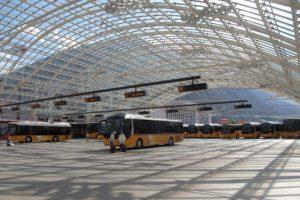 Autobusový terminál PostAuto nad nádražím Chur