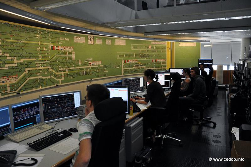 Pracoviště řízení provozu (stavědlo) na hlavním nádraží v Curychu