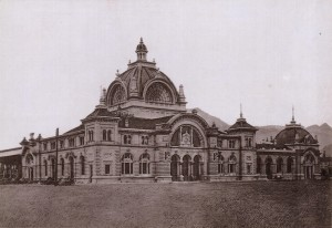 Druhá budova nádraží Luzern z roku 1896