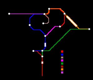 Mapa sítě Rétské dráhy